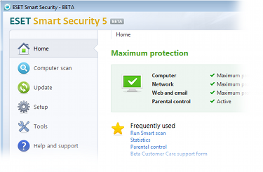 ESET Smart Security version 5 beta
